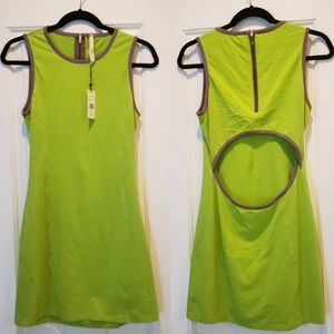"""Nanette Lepore Oonagh backless""""Andy Dress"""" in Lime"""